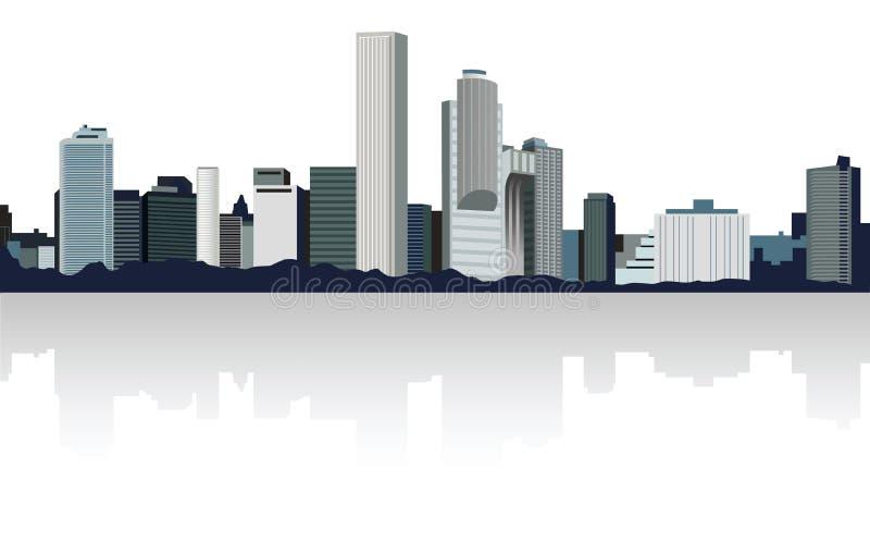 панорама города бесплатная иллюстрация