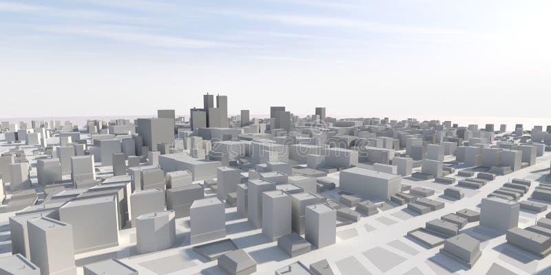 панорама города 3d стоковые изображения