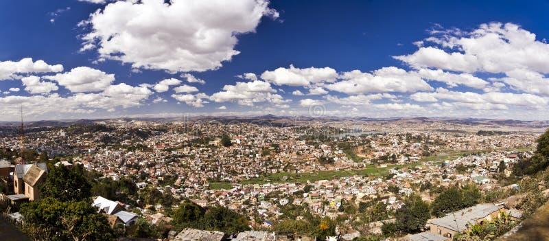 Панорама города Антананариву, столицы Мадагаскара стоковое изображение