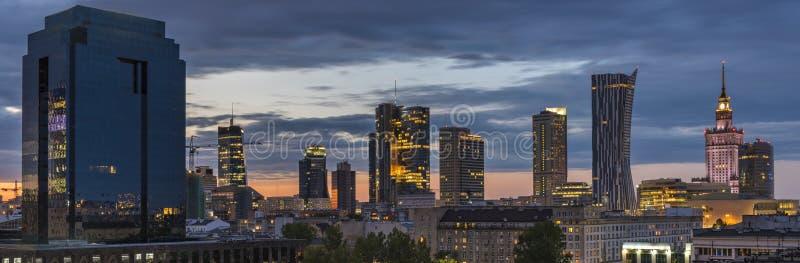 Панорама города Варшавы городская стоковые фото