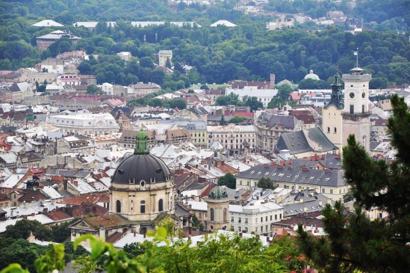 Панорама города Львова стоковое изображение
