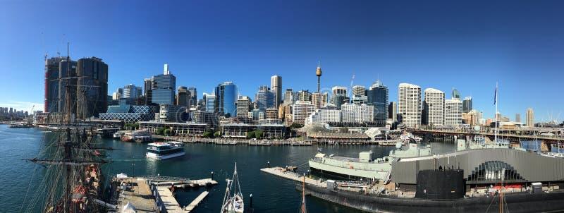 Панорама города Сиднея: Гавань милочки стоковые фотографии rf