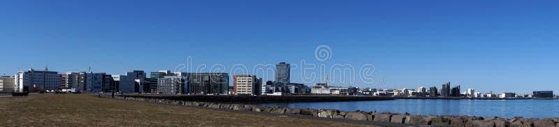 Панорама города Reykjavik стоковые изображения rf