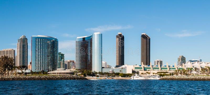 Панорама городского горизонта портового района Сан-Диего стоковые фото