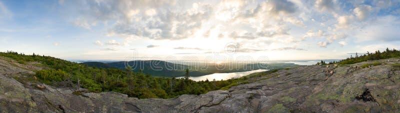 панорама горы Мейна стоковые изображения