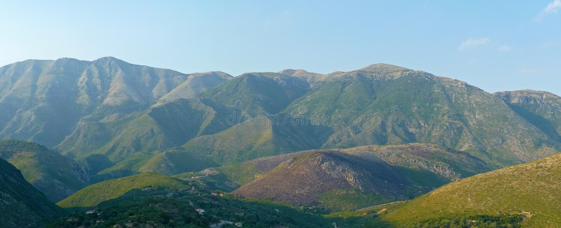 Панорама горы стоковая фотография rf