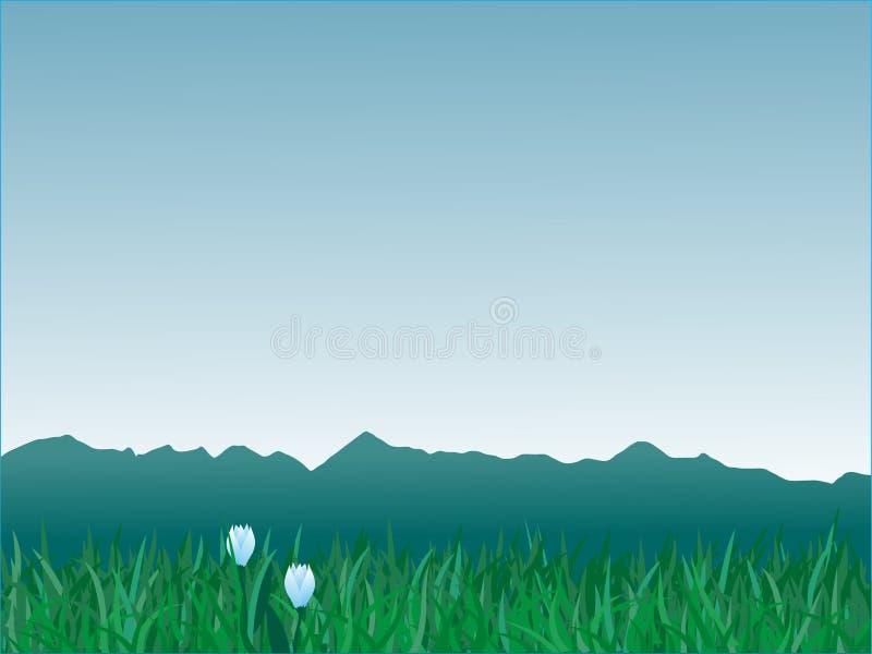 панорама гор иллюстрация вектора