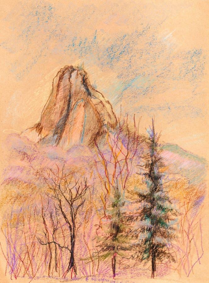 Панорама гор иллюстрация штока