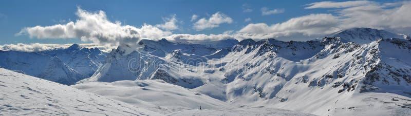 панорама гор alps стоковое изображение rf