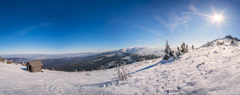 Панорама гор Karkonosze стоковое изображение