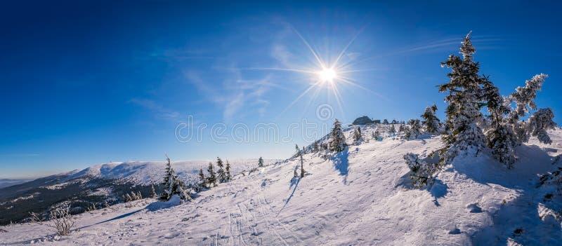 Панорама гор Karkonosze стоковое изображение rf