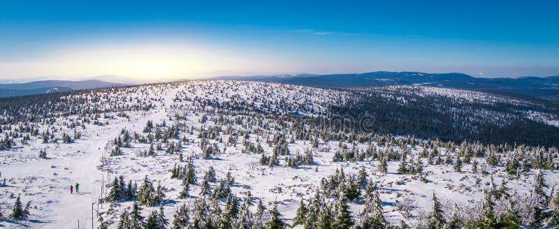 Панорама гор Karkonosze стоковое фото rf