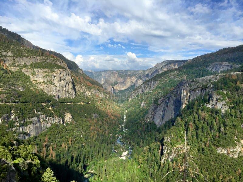 Панорама долины национального парка Yosemite стоковые изображения rf