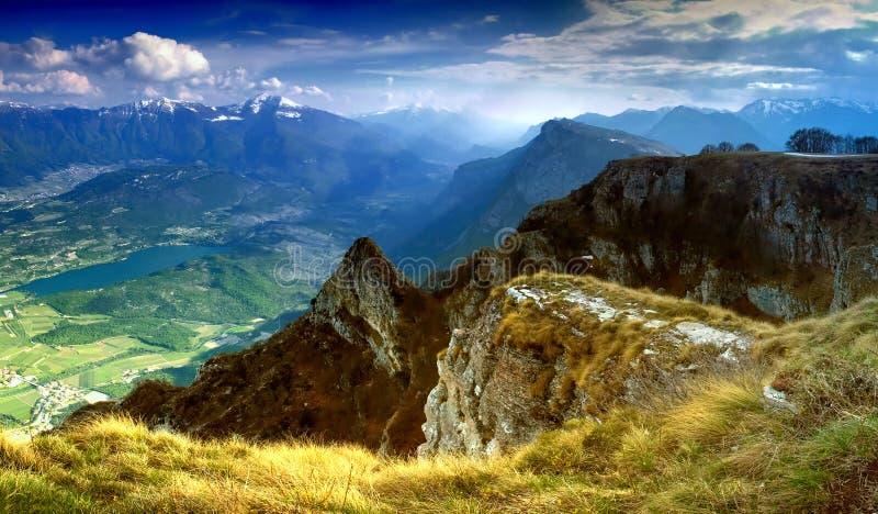 панорама доломитов стоковое изображение rf