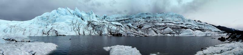 Панорама ледника Matanuska Аляски стоковые фото