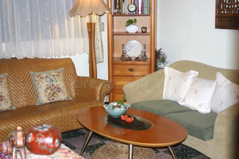 Панорама живущей комнаты стоковое изображение rf