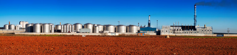 Панорама завода индустрии стоковая фотография