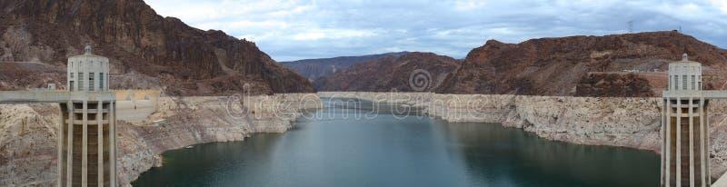 Панорама запруды Hoover стоковая фотография rf
