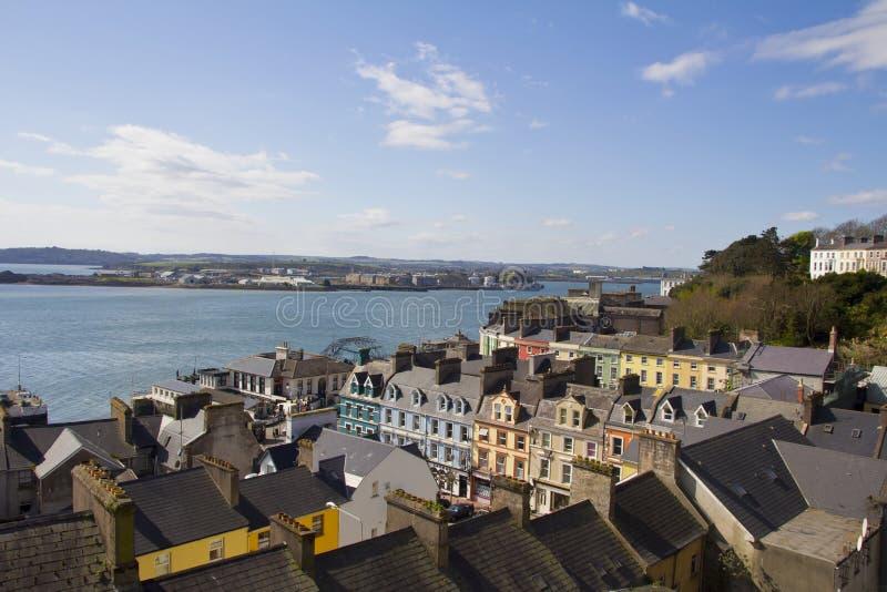 панорама Ирландии cobh стоковое фото rf