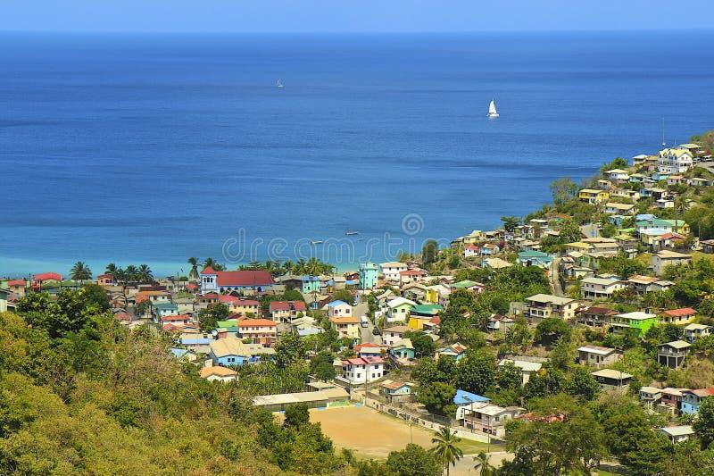 Панорама карибского города, карибская стоковые изображения