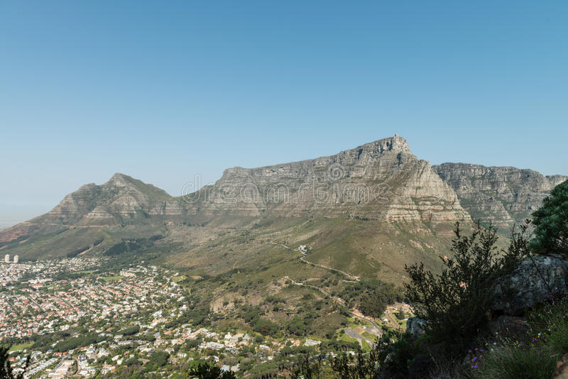Панорама Кейптауна стоковая фотография