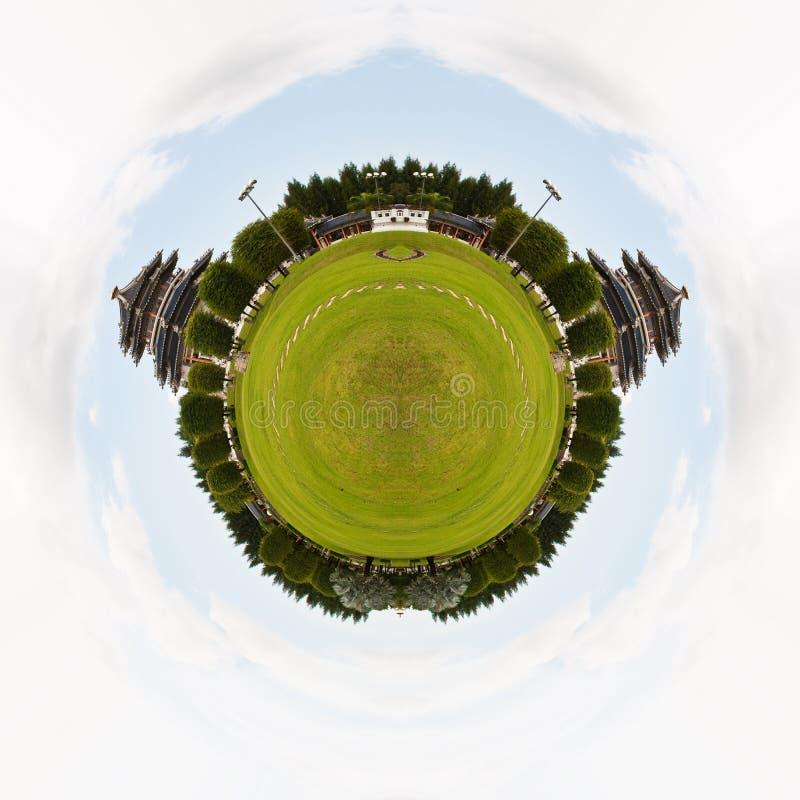 Панорама круга китайского виска. стоковые фотографии rf