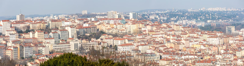 Панорама Лиона Франции стоковые фото