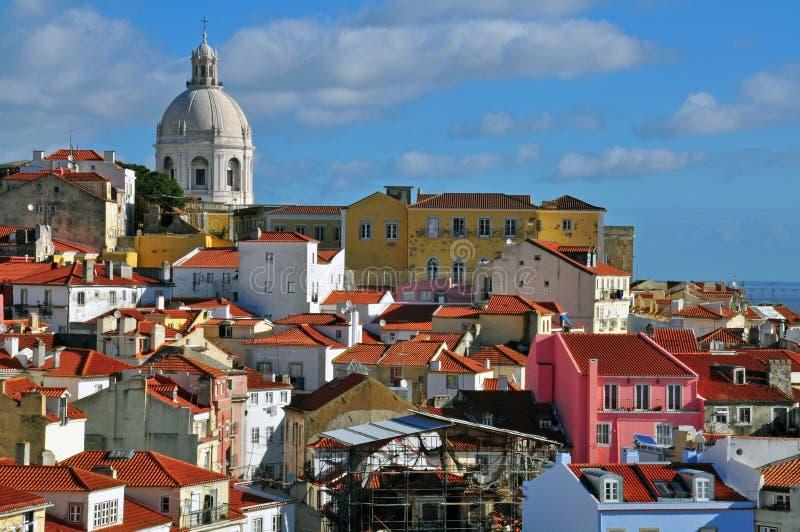 Панорама Лиссабона стоковые фотографии rf