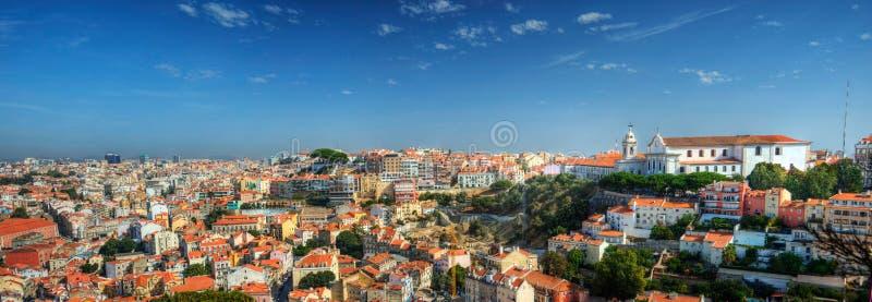 Панорама Лиссабон - Da Graca стоковое изображение rf
