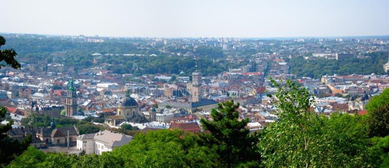 Панорама Львова, Украина Стоковое Изображение