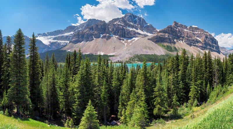 Панорама национального парка Banff, Альберты, Канады стоковые изображения rf