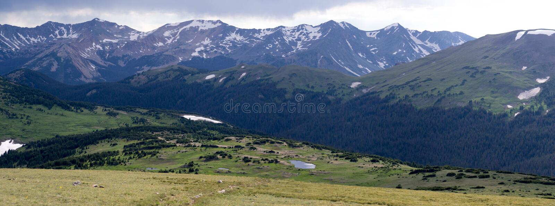 Панорама национального парка скалистой горы стоковая фотография