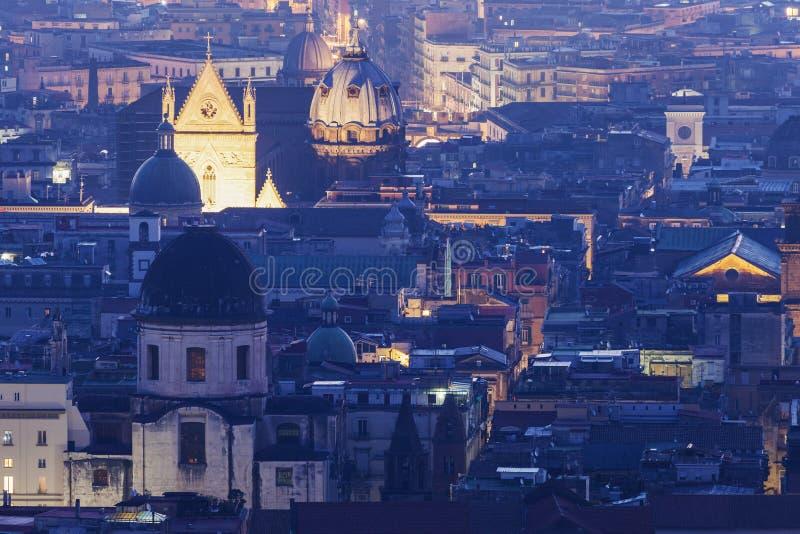 Панорама Неаполь на восходе солнца стоковая фотография