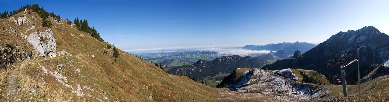 панорама немца breitberg alps стоковые фотографии rf