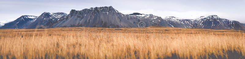 Панорама низкого угла Исландии стоковая фотография