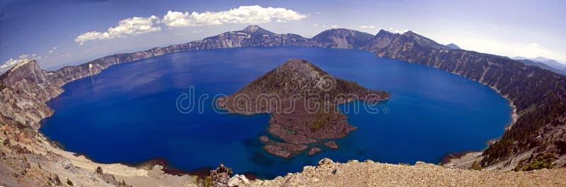 панорама озера кратера стоковая фотография rf