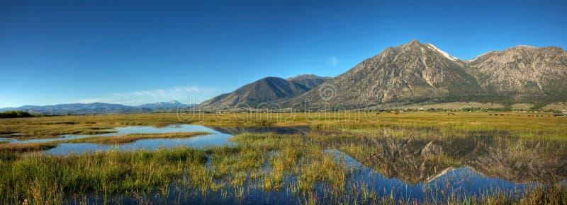 Панорама отражения долины Carson стоковое изображение
