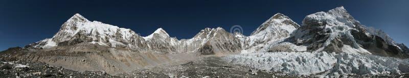 Панорама от базового лагеря Эвереста, Гималаи, Непал стоковые фото