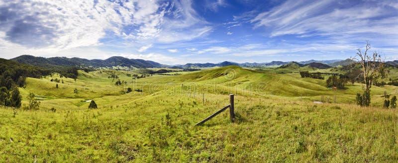 Панорама долины холмов BTops стоковая фотография rf