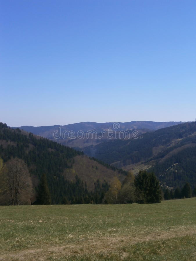 Панорама долины стоковая фотография rf