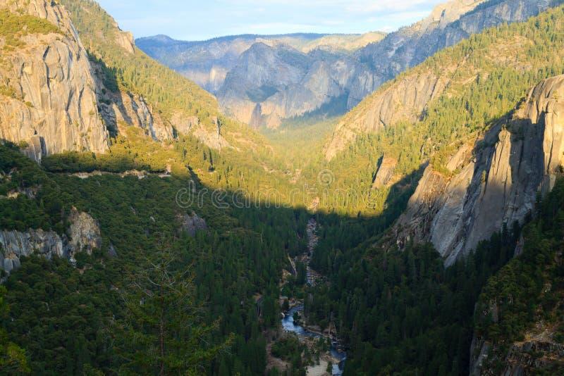 Панорама долины Yosemite стоковые фотографии rf
