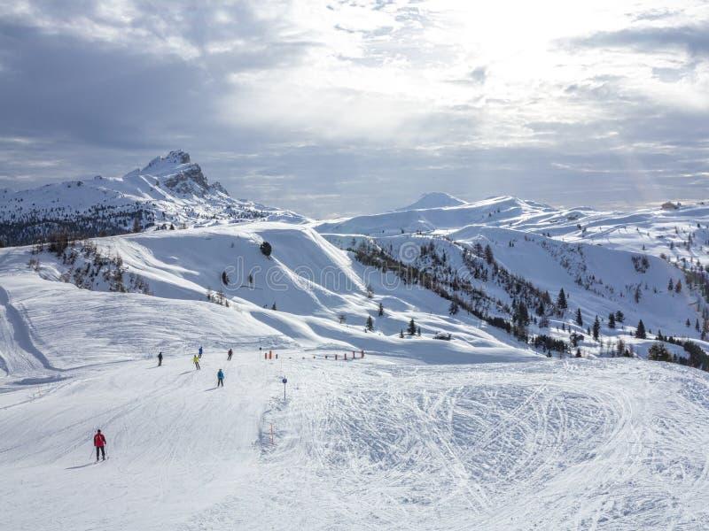 Панорама доломитов стоковое фото rf