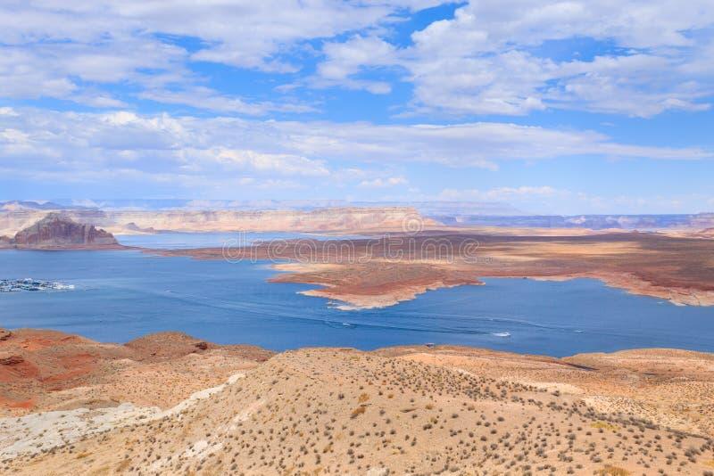 Панорама Пауэлл озера стоковая фотография rf