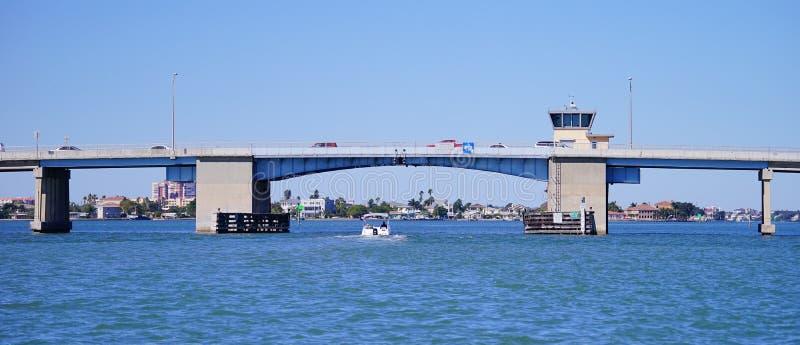 Панорама перекидного моста на Tampa Bay стоковое изображение