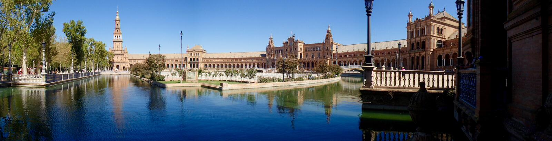 Панорама Площади de España стоковое фото