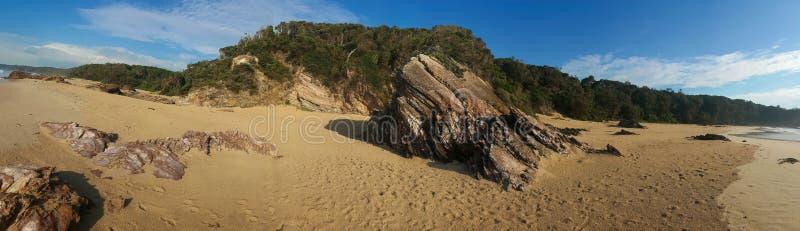 Панорама пляжа карьера стоковая фотография