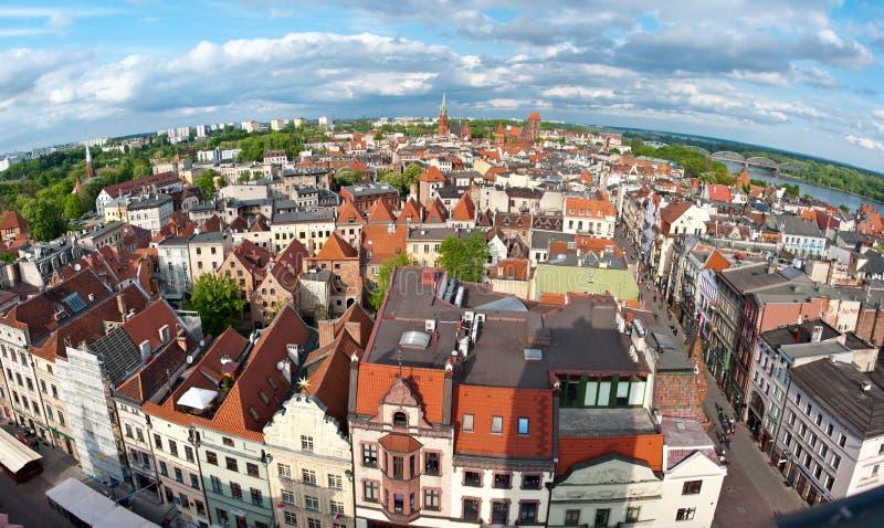 панорама Польша torun стоковое фото