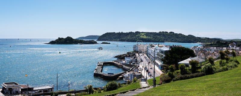 Панорама портовых районов сапки - Плимут, Девон, Англия стоковые изображения rf