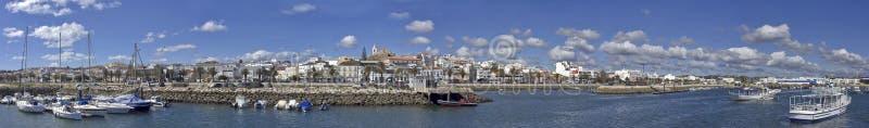 панорама Португалия lagos города стоковое изображение