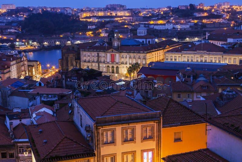 Панорама Порту на восходе солнца стоковые фото